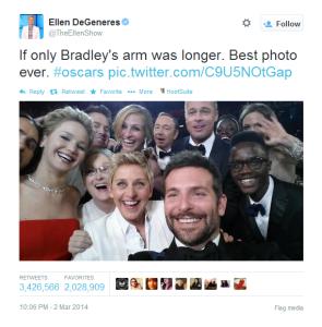 Ellen DeGeneres' Oscar Selfie
