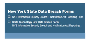 New York State Breach Notification Forms
