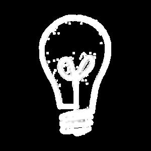 Branding Lightbulb White Transparant Large