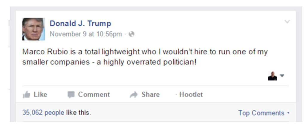 Social media tactics in politics